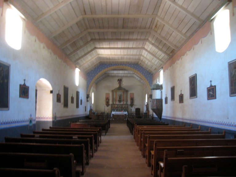 We enter the cool interior of the chapel