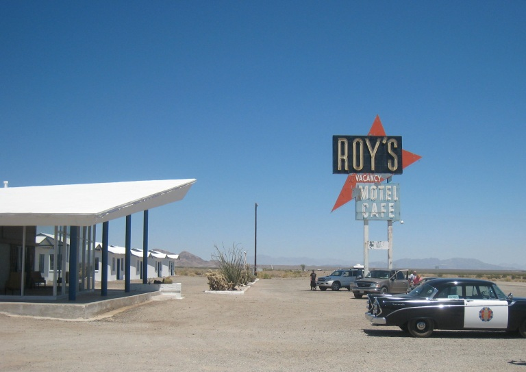 The amazing Roy's in Amboy, CA- Being restored,currently just a gas station