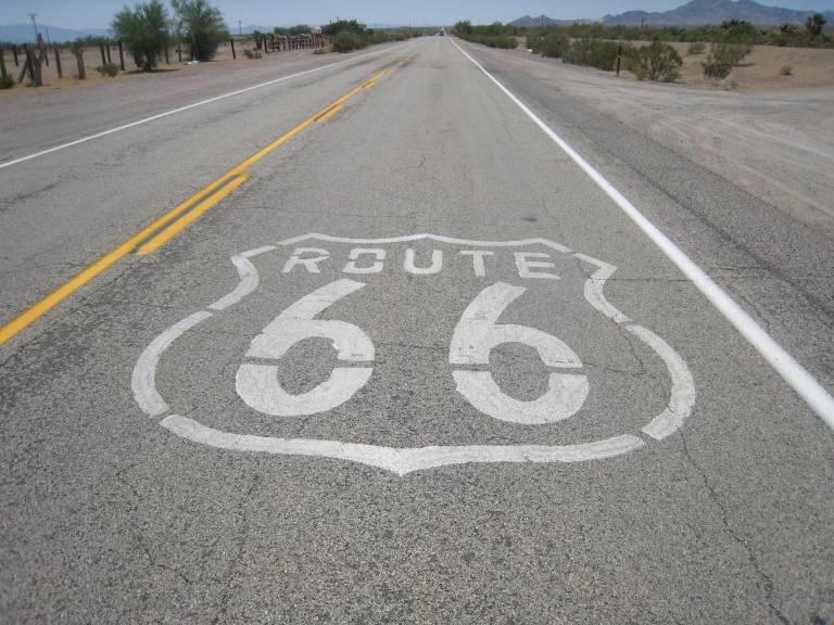 Route 66 in the desert