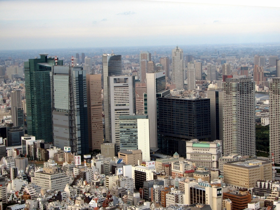 Shiodome_Area_from_Tokyo_Tower